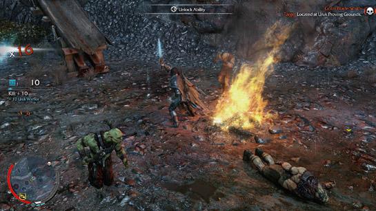 Combat in Shadow of Mordor 2