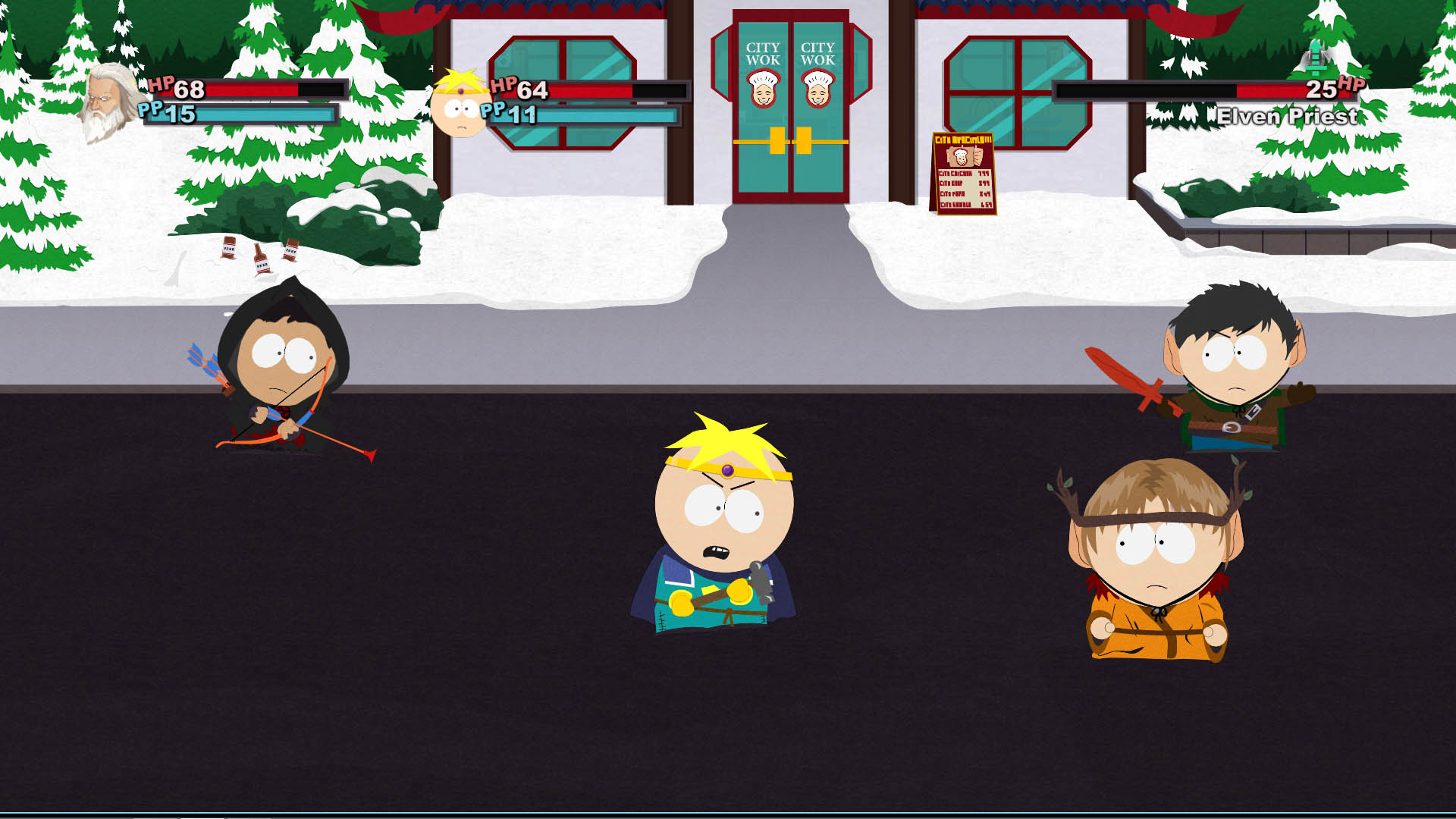 Butters Kicking Butt in Stick of Truth