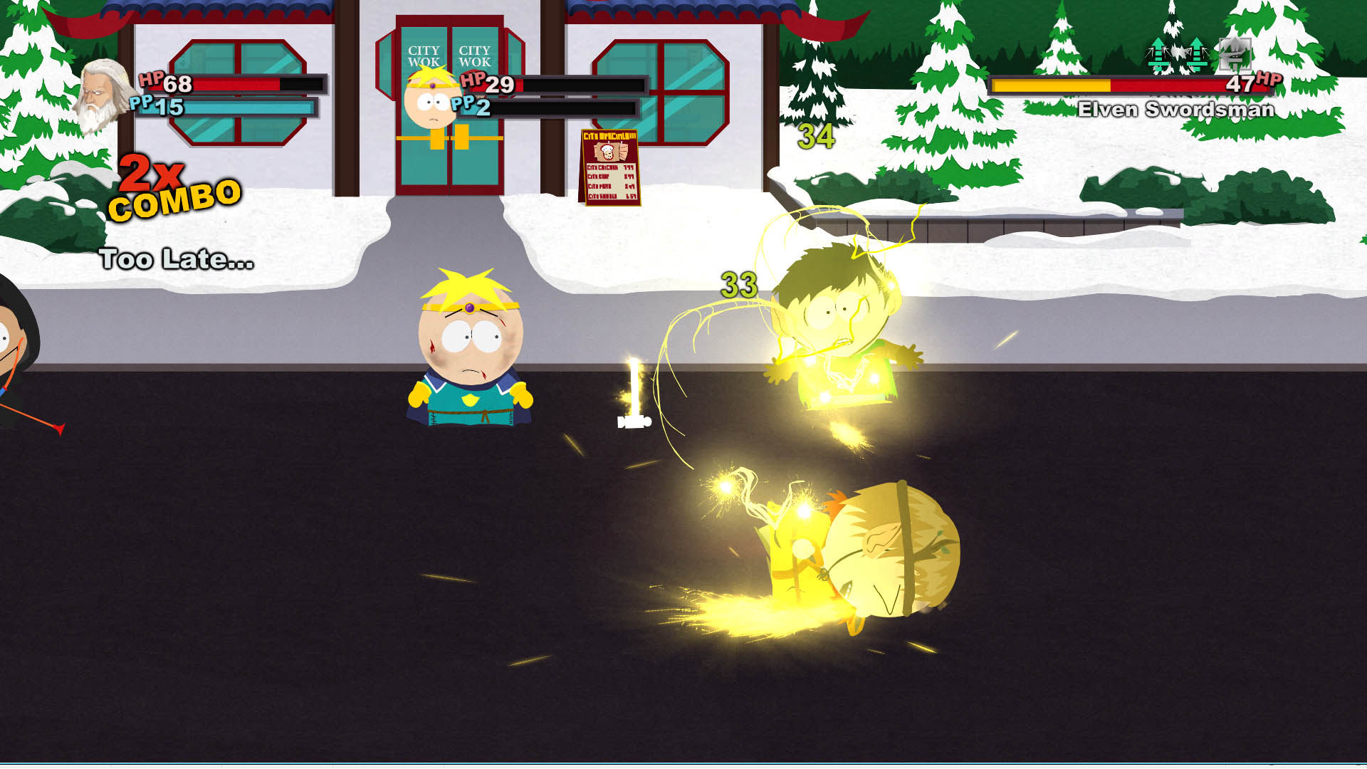 Butters Wrath in Stick of Truth Combat