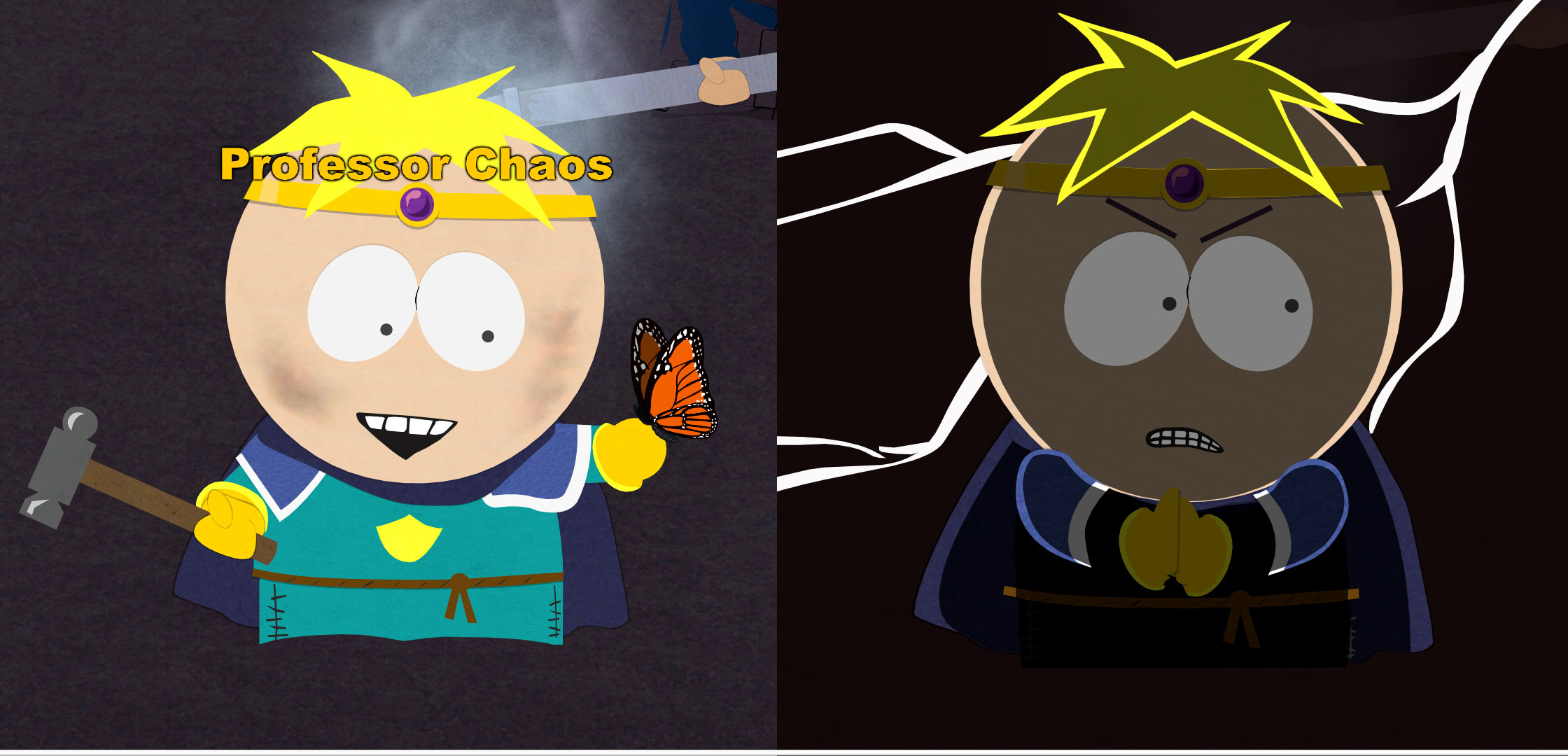 Butters Transform into Professor Chaos in Stick of Truth